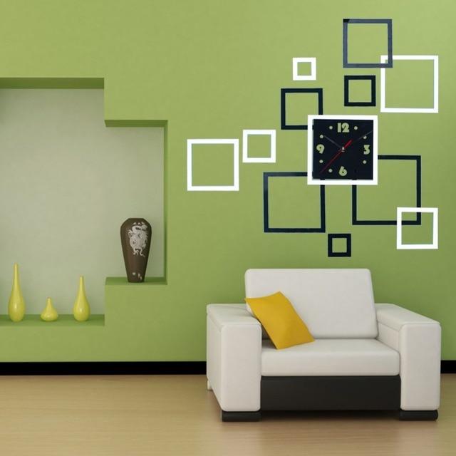 Favoloso Decorazione Della casa 3D Wall Stickers DIY Specchio Orologio Da  QT18