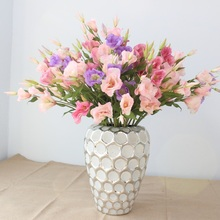 Nice Lisianthus Artificial Silk Flowers high simulation party home wedding decoration decorative flower
