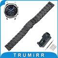 22mm completa ceramic watch band para samsung gear clássico s3/frontier butterfly fivela correia de pulso pulseira cinto + ligação removedor
