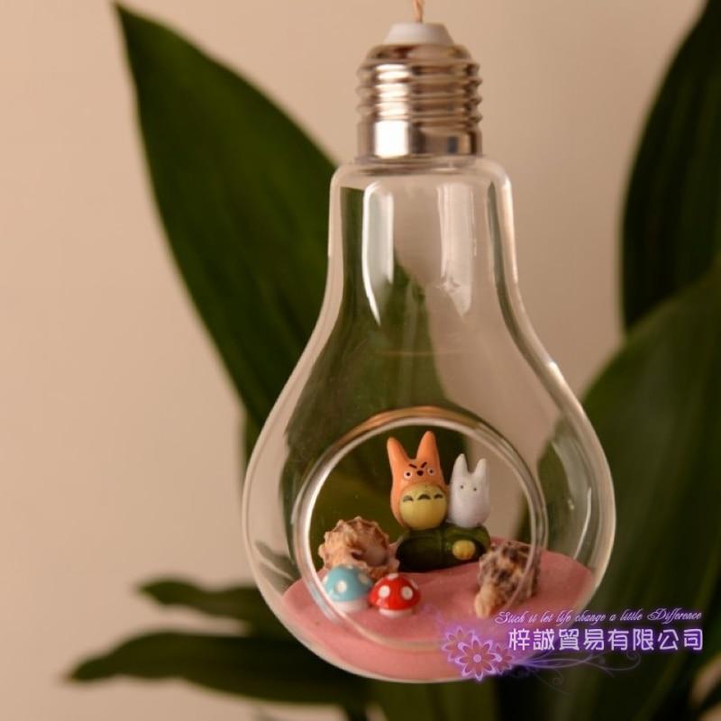 Žárovka Skleněná váza Teráriové vázy Fialové květináče Stolní sklo Moderní Vaso Svatba Podlaha Rostlinná dekorativní váza