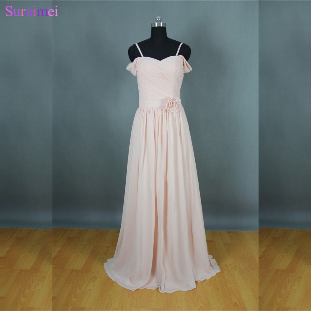 Long blush pink bridesmaid dresses new design off the shoulder long blush pink bridesmaid dresses new design off the shoulder brides maid dresses free shipping bd158 in bridesmaid dresses from weddings events on ombrellifo Image collections