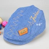 Children Hat Spring Autumn New Style Letter Standard BERET Hats Fashion Children Hats Boy 3 Colours