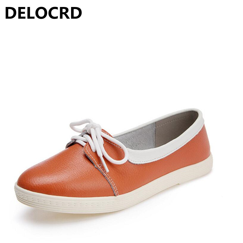Spring Women Oxford Shoes Ballerina Flats Shoes Women Genuine Leather Shoes Moccasins Lace up Loafers White Shoes Footwear girls fashion punk shoes woman spring flats footwear lace up oxford women gold silver loafers boat shoes big size 35 43 s 18