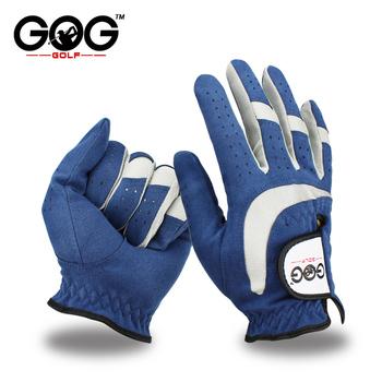 Darmowa wysyłka profesjonalne rękawice golfowe oddychająca niebieska miękka tkanina marki GOG rękawica golfowa lewa ręka supercienkie rękawice sportowe tanie i dobre opinie Tkaniny E1ST