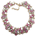 Wholesale Fashion ZA Brand Vintage Crystal Maxi Choker Necklace Luxury Gem Women Collar Statement Maxi Necklace&Pendant M390-8