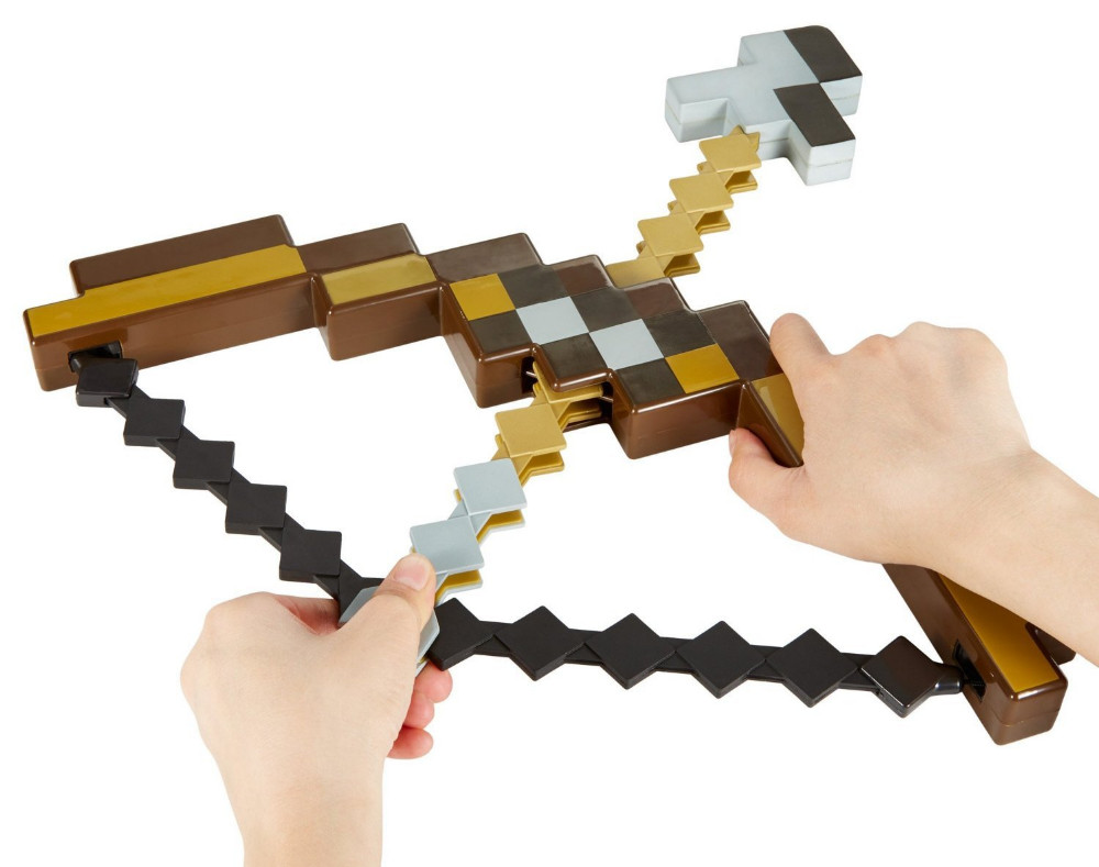 Toy Sword Pickaxe-Set Mosaic Minecraft Bow Plastic Toy-Game Arrow of And Pixel Children's