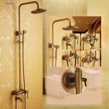 Dofaso free shipping luxury beautifull bathroom vintange shower set brass big water Antique faucets