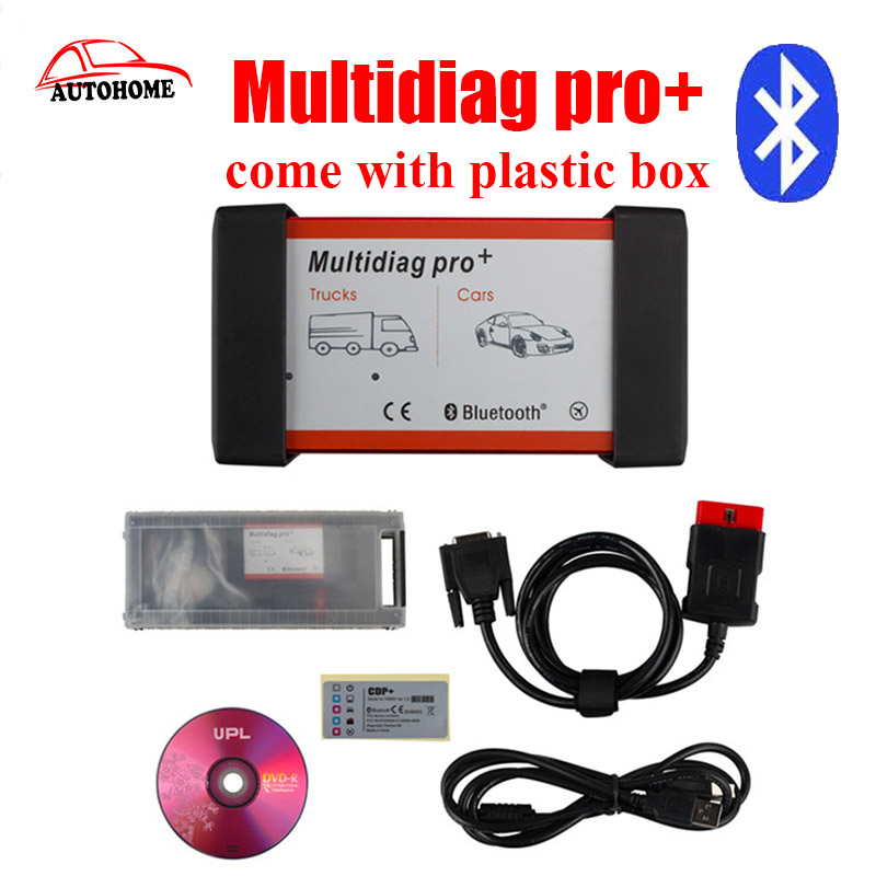 come with plastic box 2015.r3 New design TCS CDP PRO CAR+TRUCK multidiag Pro Plus with Bluetooth  with free DHL shipping!