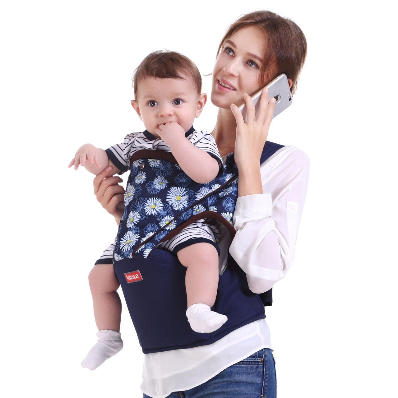 Hot Sell Fashion Design Baby Hipseat Soft Baby Backpack Breathable Belt Infant Carrier Double Shoulder Strap Baby Waist Stool baby carrier new design kids waist stool walkers baby sling hold waist belt backpack hipseat belt kids infant hip seat zl438