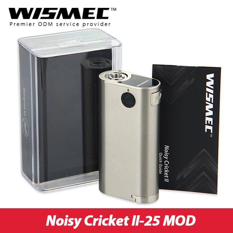 Original WISMEC Noisy Cricket II-25 Box MOD Electronic Cigarette Updated Version of Noisy Cricket Mod Vape without 18650 Battery cricket