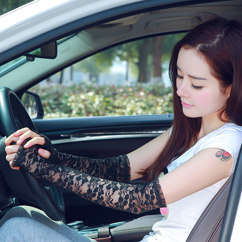 Arm Warmers Women Sunscreen Anti UV Extra Long Lace Arm Warmers Fashion Multi-function High Quality Fingerless Gloves Sleeve