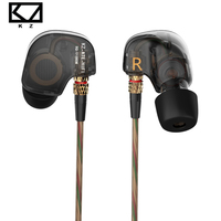 Original KZ ATE Copper Driver Dynamic HiFi Sport Headphones In Ear Earphone For Running With Microphone