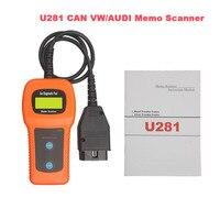 U281 dla VW AUDI SEAT ABS Airbag Silnik Code Reader MAGISTRALI CAN OBD2 Scanner Narzędzie Resetowania wysokiej jakości