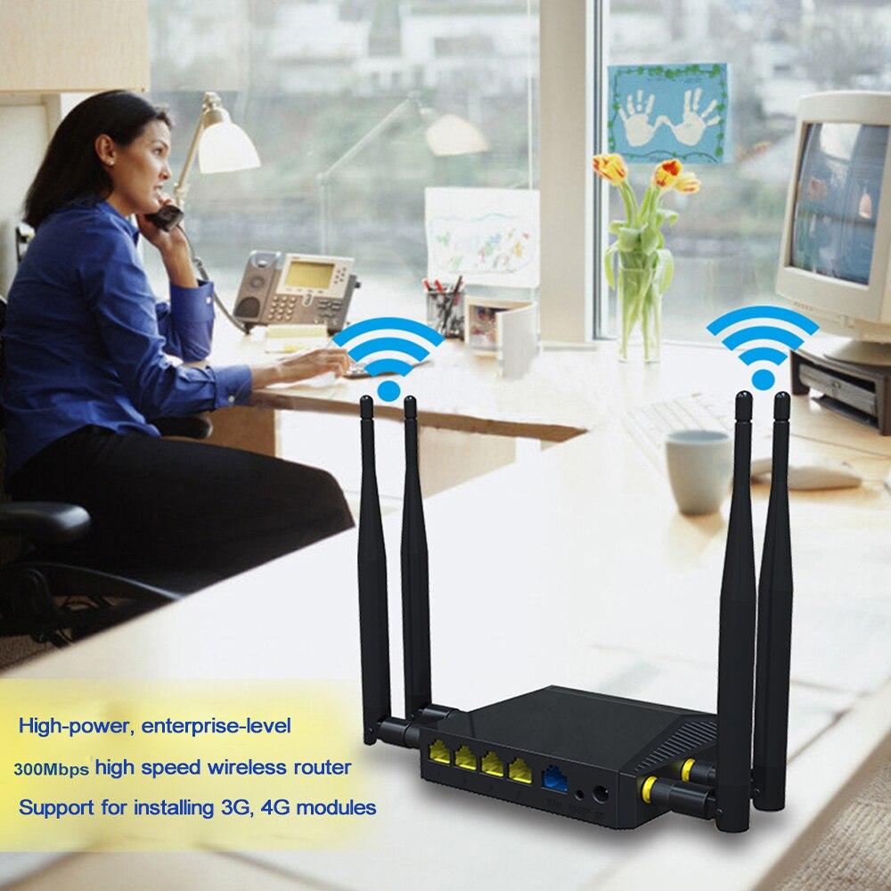Cioswi WE3926 routeur wifi extérieur point d'accès routeur wifi mobile avec emplacement pour carte sim 300 mbps 4 antenne externe routeur wifi usb - 2