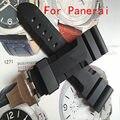 Высококачественный водонепроницаемый резиновый силиконовый ремешок 24 26 мм черный мужская ремешки для Pam с оригинальным логотипом бесплатная доставка