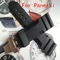 High-Quality Waterproof Rubber Silicone Strap 24 26mm black Men's Watchbands For Pam With original Logo free shipping