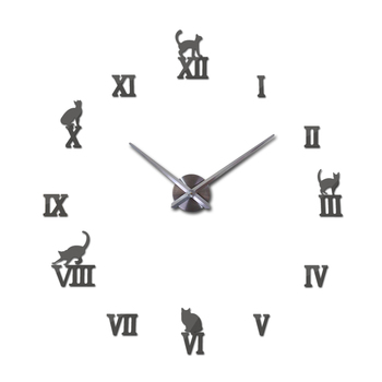 Hot design large decorative wall clocks brief design diy clocks digital watch quartz living room 3d cat wall stickers 13