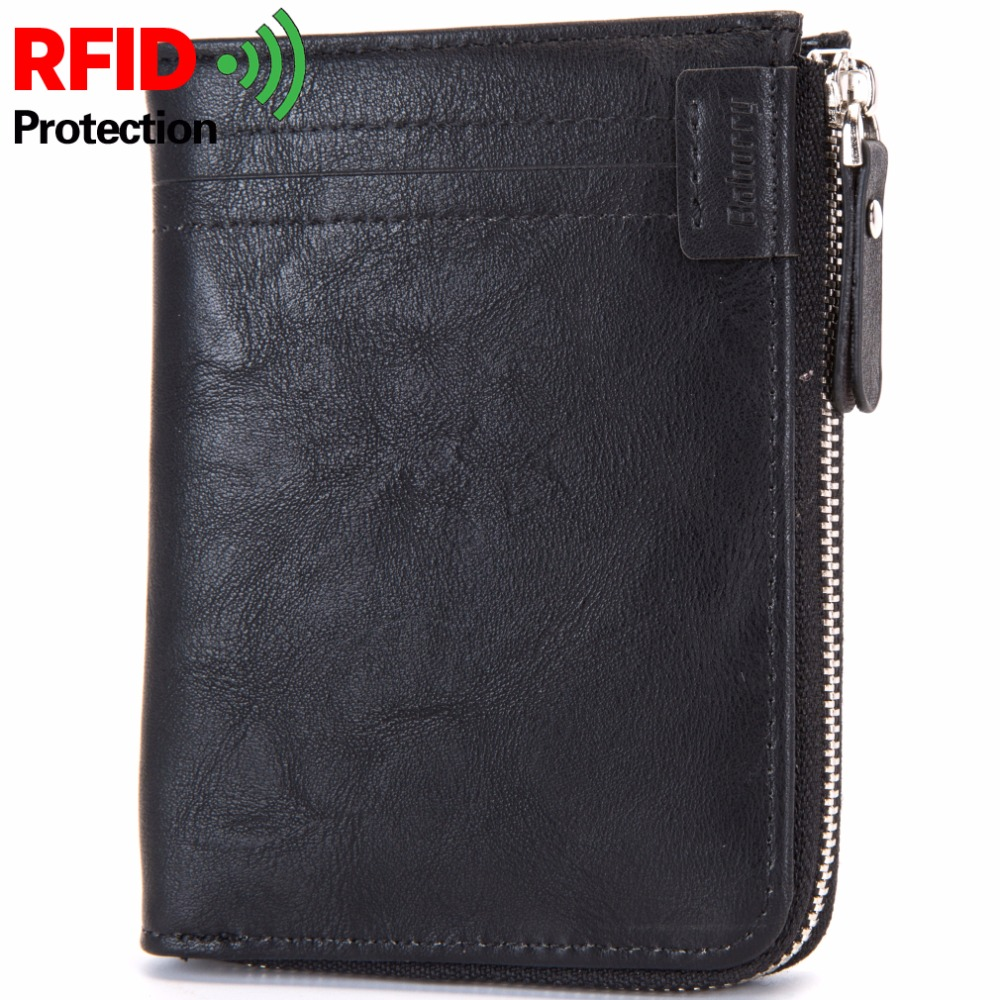 RFID Theft Protect Coin Bag Zipper Men Wallets Famous Brand Mens Wallet Male Money Purses Wallets New Design Top Men Wallet недорго, оригинальная цена