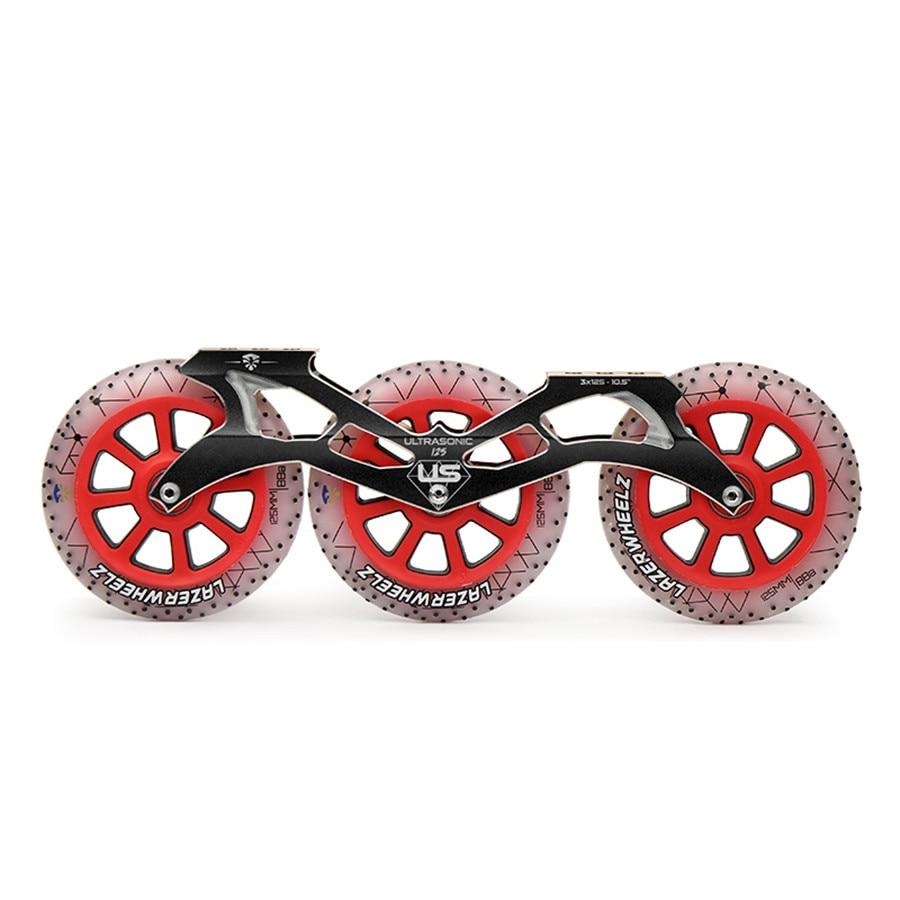 1 pair pro scooter wheels metal core purple lightning 100mm 88a abec 11 bearings