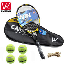CAMEWIN Tennis Racket tenis masculino | Set Includes Two Tennis Bags+Four Tennis Balls+2 PCS Tennis Racket+Four Rubber Band |(China)