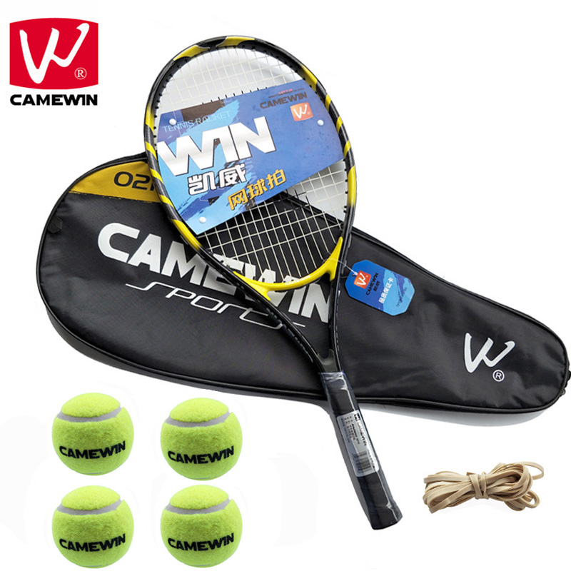 CAMEWIN Tennis Racket tenis masculino | Set Includes Two Tennis Bags+Four Tennis Balls+2 PCS Tennis Racket+Four Rubber Band | butterfly wakaba 2000 table tennis racket free 2 balls in pack