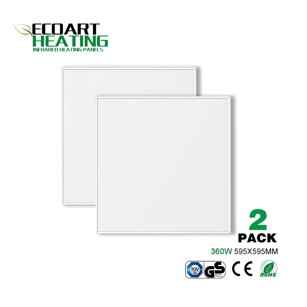 Calentador de espacio infrarrojo 360W 2 paneles de calefacción Ideal para rejillas de techo de oficina Alemania Stock