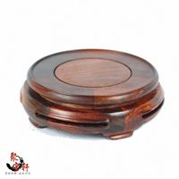 Rosewood Carving Annatto Handicraft Circular Base Of Real Wood Of Buddha Vase Act The Role Ofing