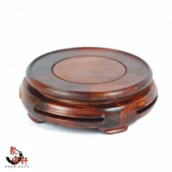 Rosewood carving annatto handicraft circular base of real wood of Buddha vase act the role ofing is tasted furnishing articles