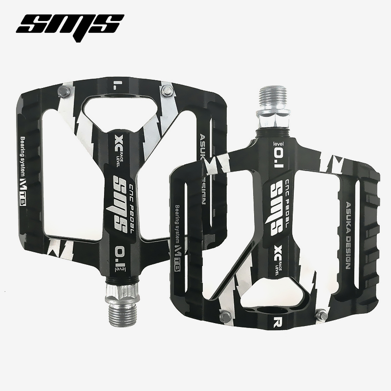 sms bicycle pedal Ultralight red black DH vtt mountain mtb bike pedals bmx road lightweight Cycling Aluminum Alloy Pedals parts aest yrpd 07t lightweight aluminum magnesium alloy bicycle bike pedals blue 2 pcs