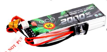 ACE <font><b>2000mAh</b></font> 5C 7.4V 2S1P <font><b>2S</b></font> 16*30*94mm 92g <font><b>lipo</b></font> battery for RC models FPV drones image