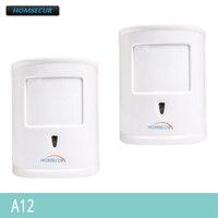 HOMSECUR A12 2 Pcs 433 MHz Sem Fio Pet Imune PIR Sensor de Movimento do IR sob 10 kg Para O Nosso Sistema de Alarme|Sensor e detector|Segurança e Proteção -