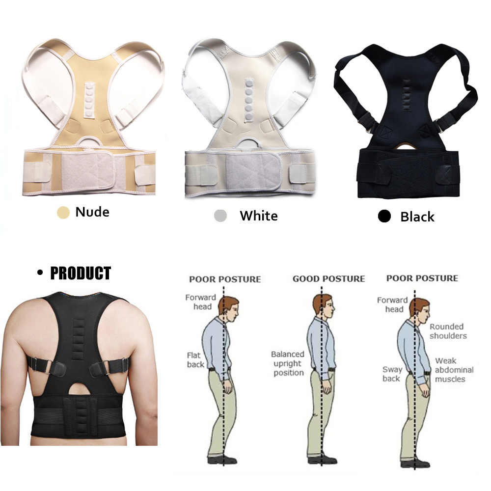 Comfortable Posture Corrector Belt with 10 High Energetic Magnets to Prevent Humpback and Pull Shoulder and Back to Correct Posture 2