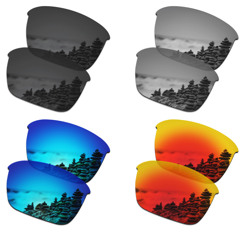 SmartVLT 4 Pairs Polarized Sunglasses Replacement Lenses For Oakley Thinlink - 4 Colors