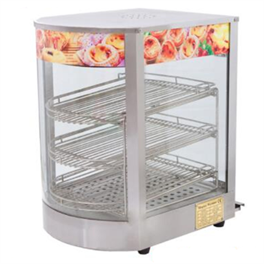 Stainless Steel Food Warmer Showcase Hot Drink Cabinet 3 Layer Warmer Display Showcase Heat Preservation high quality hot dog display showcase food warmer stainless steel bread sandwich countertop tool