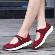 TOURSH Women Casual Flats Fashion Shoes Tennis Feminino Walking Sneakers Loafers Mesh Krasovki