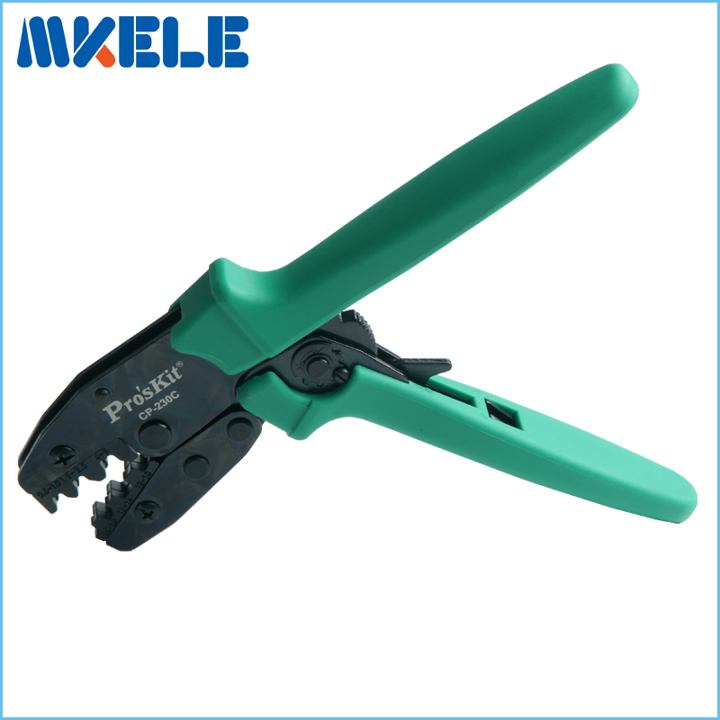CP-230C connecting bare clamp ratchet terminal crimping tool cold press pliers  цены