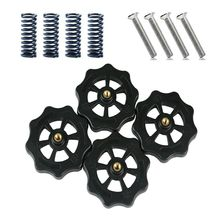 Heat Resistant M4x40 Screw and Nut Leveling Spring Kit For CR-10 Ender-3 Um2 Prusa I3 Mk2/Mk3 Hotbed 3D Printer Parts e3d titan aero prusa i3 mk2 short distance extruded head x axis slide block card spring