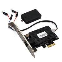 DIEWU Multifonctionnel PCIE PCI Express Gigabit carte Réseau + commutateur de commande à distance carte ordinateur de bureau commutateur 2 en 1