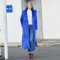 DAJANE Европа и США искусственный мех лисы длинный костюм воротник длинный искусственный мех пальто