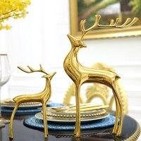 Дома гостиная винный шкаф украшения оленей Творческий украшение стола Ювелирный дом мягкой меди ремесла полноценно металлу