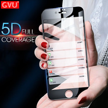 GVU 5D Soft Edge Full Cover Tempered glass For iphone 6 6S Plus 7 7 Plus X Screen Protector For iphone 8 8 Plus 10 Glass Film