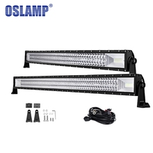 Comparación de precios Oslamp 42 ''22 34 50 curva de Luz LED Bar Offroad 3-ROW Combo Led Bar Para Toyota/PickUp/Camión Llevó la Barra Ligera del Trabajo