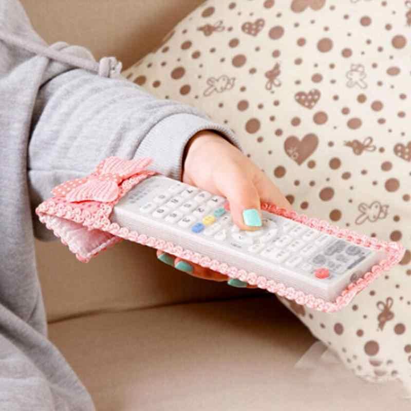 3 Ukuran Air Kondisi Remote Control Cover Tekstil Pelindung Tas 1PC Baru Ikatan Simpul Desain Tahan Debu TV Remote Control Kasus 3 Warna