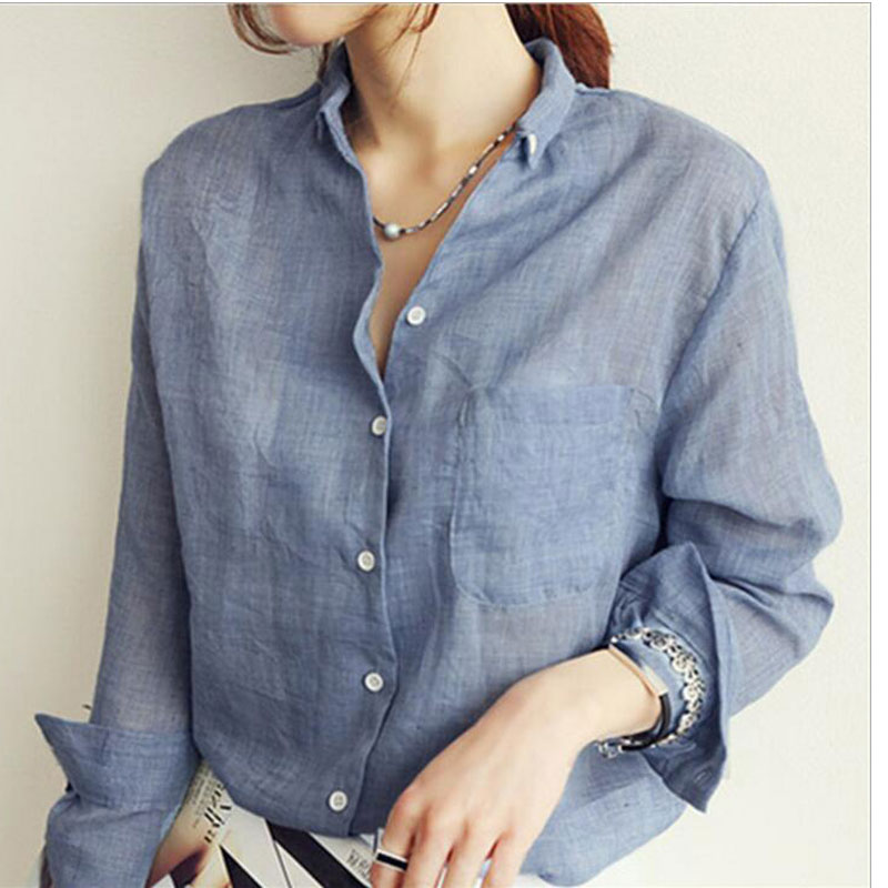 734331f3274f6 Linen Shirts for Women