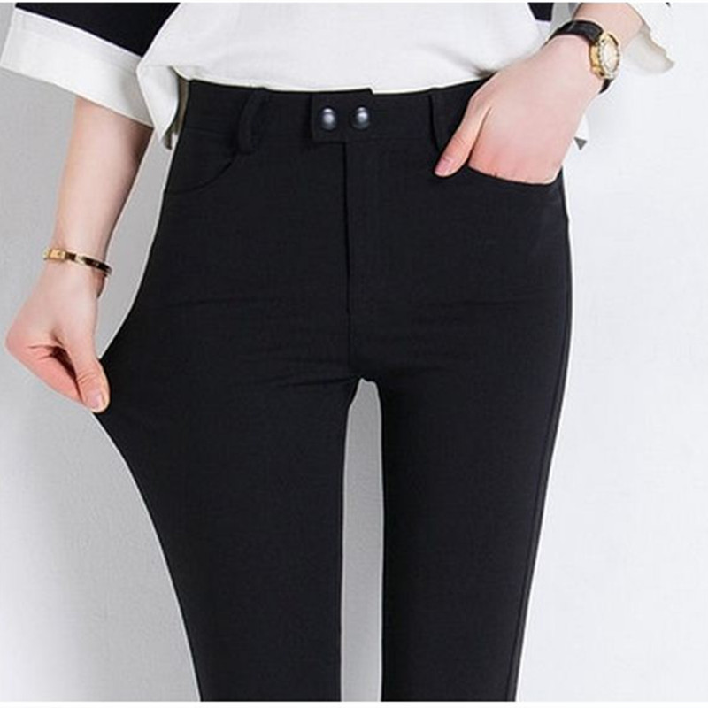 HziriP Women Pencil Pants High Waist Trousers Plus Size