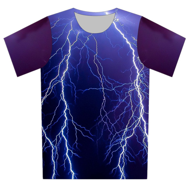 Children New 3D T-Shirt Space Galaxy Animal Cat Weed Lightning Print Boy Girl Summer Wear Tee Tops Casual T Shirt 95cm-155cm