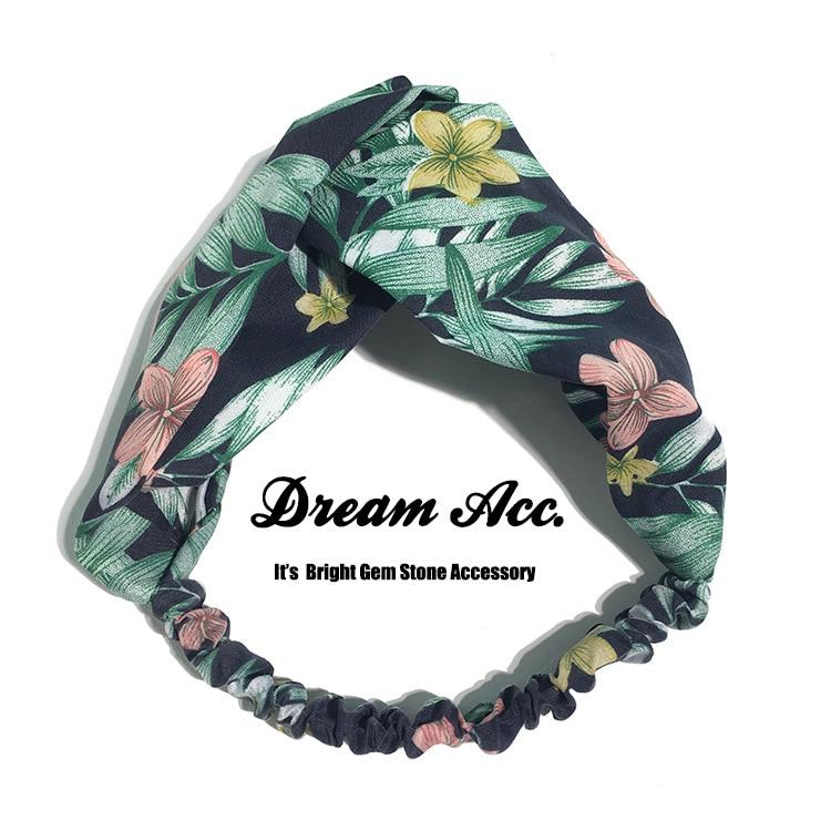 Original CHIC Fashion Retro Flower with Spring Autumn Contracted Temperament Hair Band Fresh Cloth Art Headband Hairpin