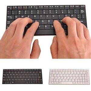 Vococal Mini teclado inalámbrico ultradelgado, silencioso, recargable por USB, Bluetooth 2,4 GHz, teclado para teléfono inteligente, portátil, tableta y Escritorio