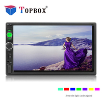 Topbox 2 Din 7 inch Touch Screen Car Radio Bluetooth Multimedia Auto Audio Player Stereo Support Rear View Camera 2Din