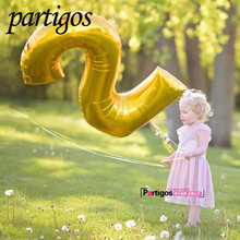 1pcs/lot 40inch Gold Number Balloon Aluminum Foil Helium Balloons Birthday Wedding Party Decoration Celebration Supplies